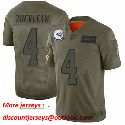 Rams #4 Greg Zuerlein Camo Youth Stitched Football Limited 2019 Salute to Service Jersey