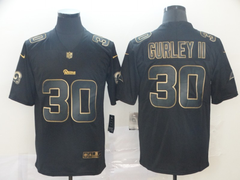 Rams 30 Todd Gurley II Black Gold Vapor Untouchable Limited Jersey