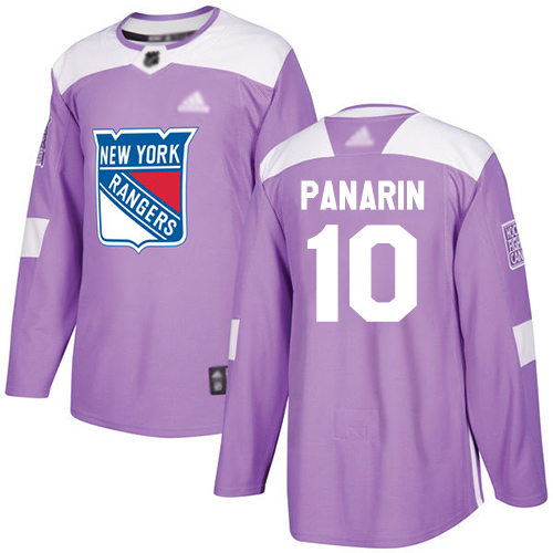 Rangers #10 Artemi Panarin Purple Authentic Fights Cancer Stitched Hockey Jersey