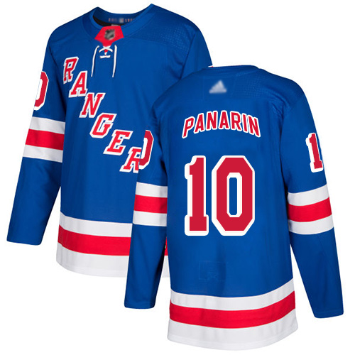 Rangers #10 Artemi Panarin Royal Blue Home Authentic Stitched Hockey Jersey
