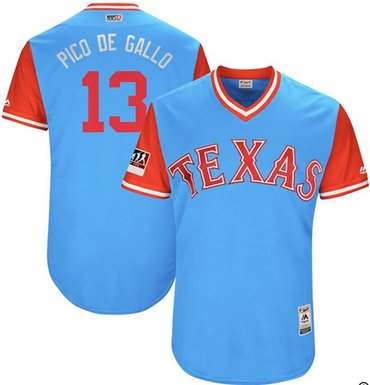 Rangers #13 Joey Gallo Light Blue Pico de Gallo Players Weekend Authentic Stitched MLB Jersey