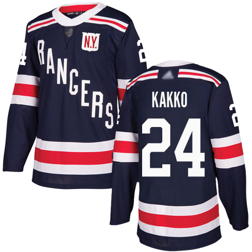 Rangers #24 Kaapo Kakko Navy Blue Authentic 2018 Winter Classic Stitched Hockey Jersey