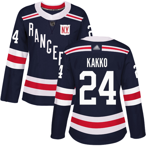 Rangers #24 Kaapo Kakko Navy Blue Authentic 2018 Winter Classic Women's Stitched Hockey Jersey