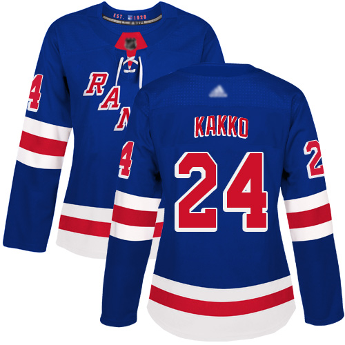 Rangers #24 Kaapo Kakko Royal Blue Home Authentic Women's Stitched Hockey Jersey