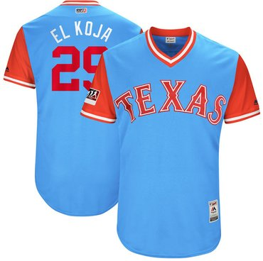 Rangers #29 Adrian Beltre Light Blue El Koja Players Weekend Authentic Stitched MLB Jersey