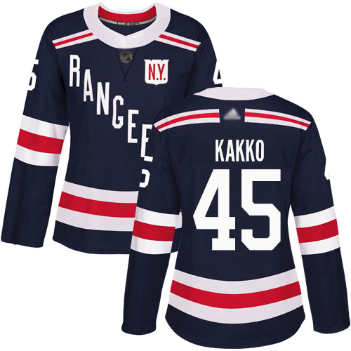 Rangers #45 Kaapo Kakko Navy Blue Authentic 2018 Winter Classic Women's Stitched Hockey Jersey