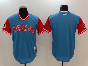 Rangers Light Blue 2018 Players' Weekend Authentic Team Jersey