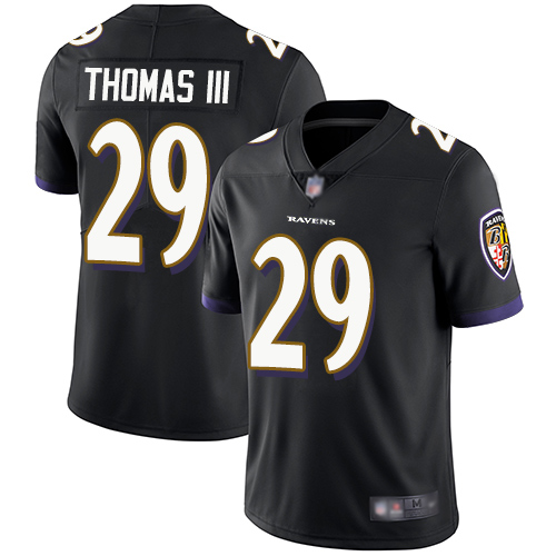 Ravens #29 Earl Thomas III Black Alternate Youth Stitched Football Vapor Untouchable Limited Jersey
