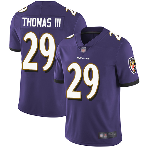 Ravens #29 Earl Thomas III Purple Team Color Youth Stitched Football Vapor Untouchable Limited Jersey