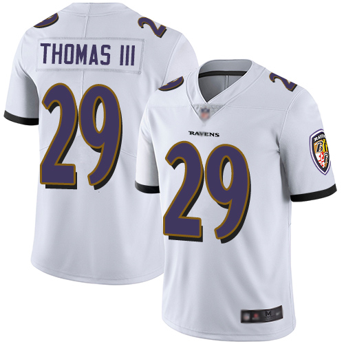 Ravens #29 Earl Thomas III White Youth Stitched Football Vapor Untouchable Limited Jersey