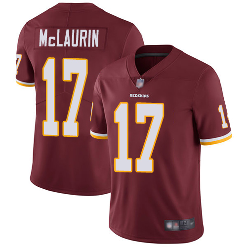 Redskins #17 Terry McLaurin Burgundy Red Team Color Men's Stitched Football Vapor Untouchable Limited Jersey