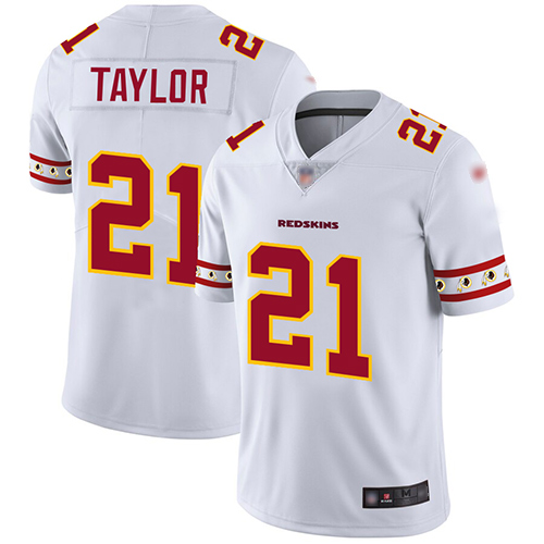 Redskins #21 Sean Taylor White Men's Stitched Football Limited Team Logo Fashion Jersey