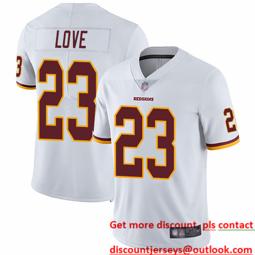 Redskins #23 Bryce Love White Men's Stitched Football Vapor Untouchable Limited Jersey