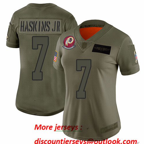 Redskins #7 Dwayne Haskins Jr Camo Women's Stitched Football Limited 2019 Salute to Service Jersey