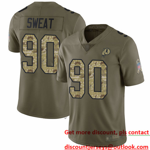 Redskins #90 Montez Sweat Olive Camo Men's Stitched Football Limited 2017 Salute To Service Jersey