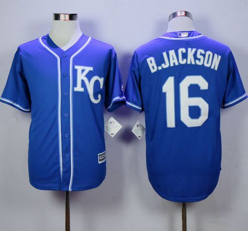 Royals #16 Bo Jackson Blue Alternate 2 New Cool Base Stitched MLB Jersey Size M--(3pcs in stock)