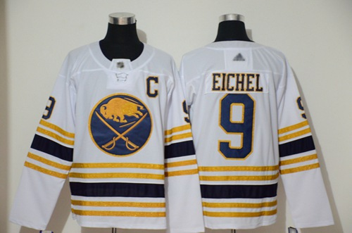 Sabres #9 Jack Eichel White 50th Season Authentic Stitched Hockey Jersey