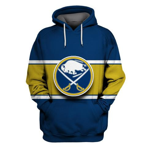 Sabres Blue All Stitched Hooded Sweatshirt
