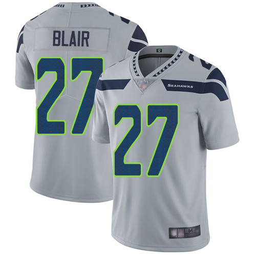 Seahawks #27 Marquise Blair Grey Alternate Men's Stitched Football Vapor Untouchable Limited Jersey