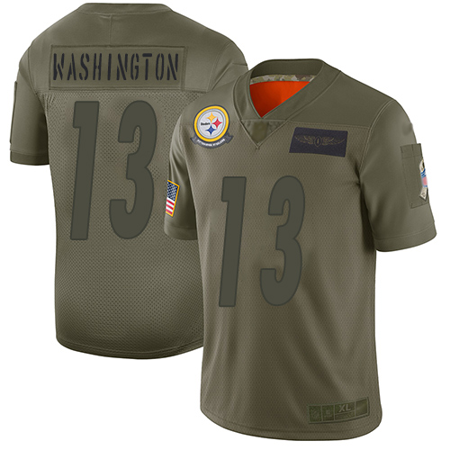 Steelers #13 James Washington Camo Men's Stitched Football Limited 2019 Salute To Service Jersey