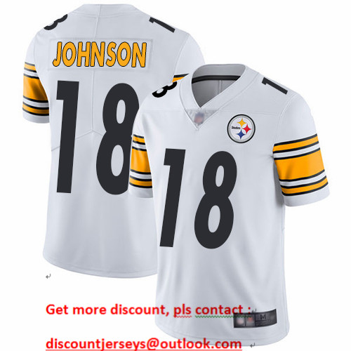 Steelers #18 Diontae Johnson White Men's Stitched Football Vapor Untouchable Limited Jersey