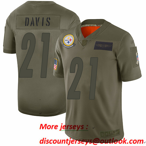 Steelers #21 Sean Davis Camo Men's Stitched Football Limited 2019 Salute To Service Jersey