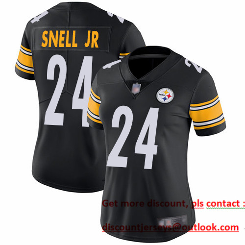 Steelers #24 Benny Snell Jr. Black Team Color Women's Stitched Football Vapor Untouchable Limited Jersey