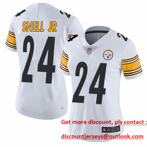 Steelers #24 Benny Snell Jr. White Women's Stitched Football Vapor Untouchable Limited Jersey