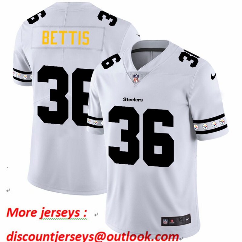 Steelers 36 Jerome Bettis White 2019 New Vapor Untouchable Limited Jersey