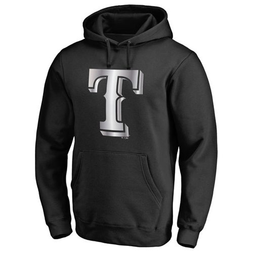 Texas Rangers Platinum Collection Pullover Hoodie Black