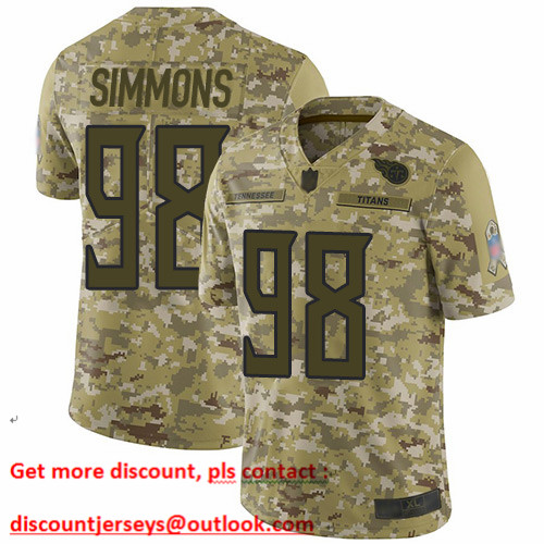 Titans #98 Jeffery Simmons Camo Men's Stitched Football Limited 2018 Salute To Service Jersey