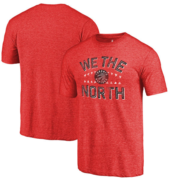 Toronto Raptors Fanatics Branded Red Sharp Tooth Hometown Collection Tri-Blend T-Shirt