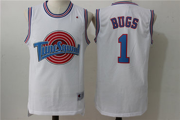 Tune Squad 1 Bugs White Stitched Movie Jersey