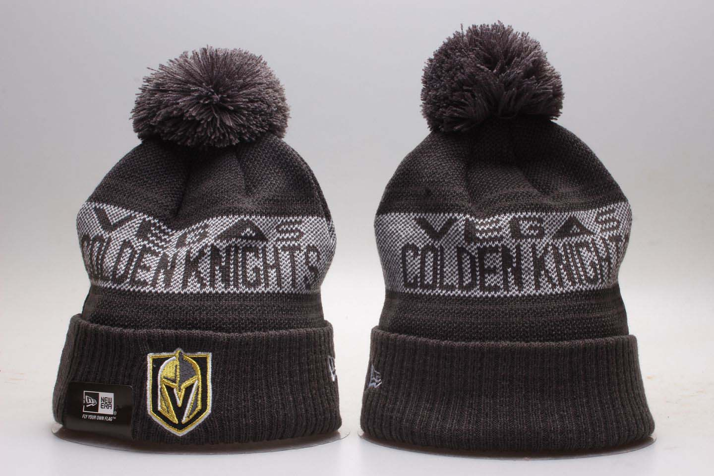 83349d99892 Vegas Golden Knights Team Pride Gray Knit Hat With Pom YP
