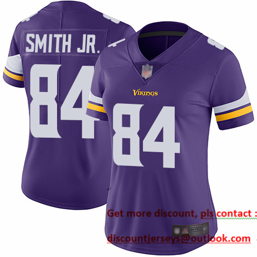 Vikings #84 Irv Smith Jr. Purple Team Color Women's Stitched Football Vapor Untouchable Limited Jersey