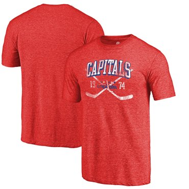 Washington Capitals Fanatics Branded Red Vintage Collection Line Shift Tri  Blend T-Shirt 1596f5cc7