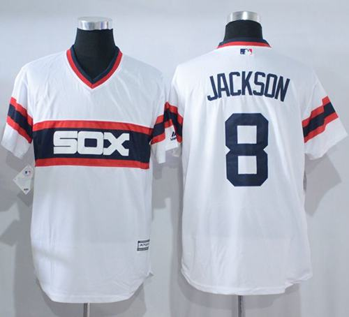 a1635799 White Sox #8 Bo Jackson White New Cool Base Alternate Home Stitched MLB  Jersey