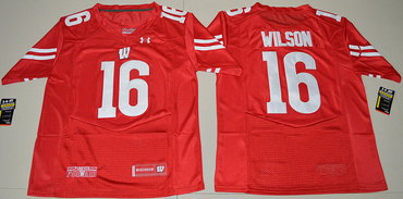 Wisconsin Badgers 16 Russell Wilson College Football Jersey