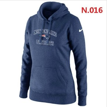 Wholesale Women's New England Patriots Heart & Soul Pullover Hoodie Dark Blue  supplier