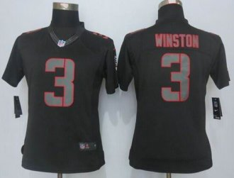Women Nike Buccaneers  3 Jameis Winston Black Impact Stitched NFL Limited  Jersey f0adaf9f6