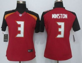 Women Nike Buccaneers  3 Jameis Winston Red Team Color Stitched NFL New Limited  Jersey 690139603