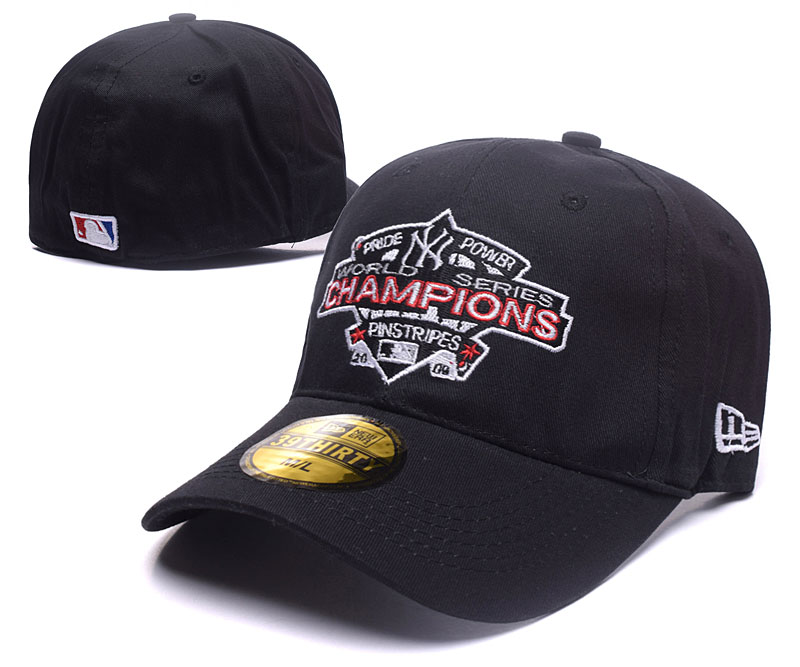 Yankees 2009 World Series Champions Black Fitted Hat DF