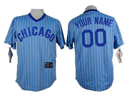 reputable site 73993 e17cb Light Youth's Customized Pullover Jersey Blue Chicago Cubs ...