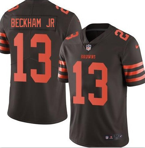 Youth Cleveland Browns #13 Odell Beckham Jr Color Rush Jersey