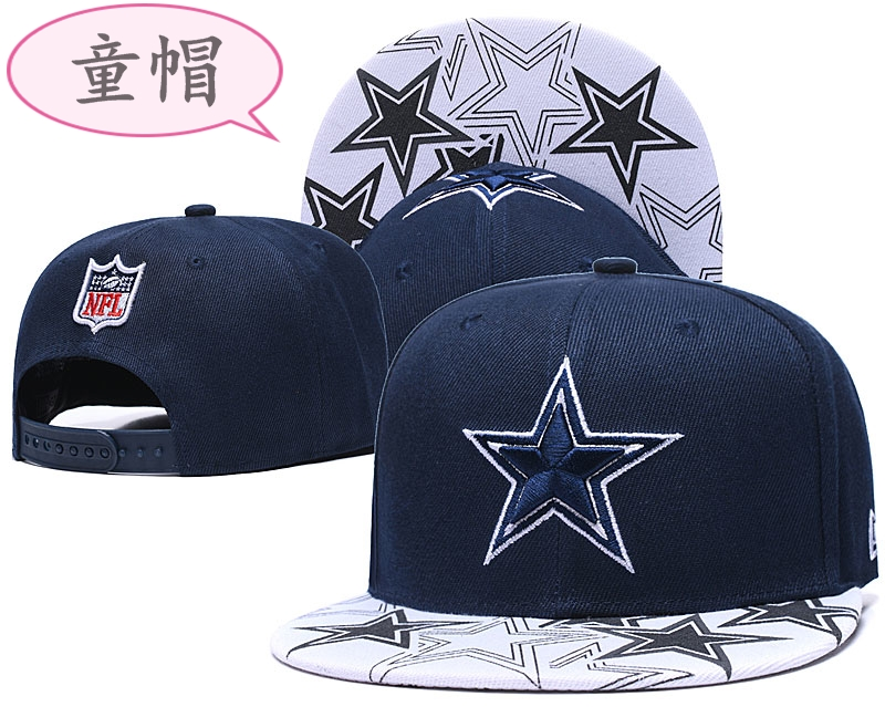 Youth Cowboys Team Logo Navy Adjustable Hat GS