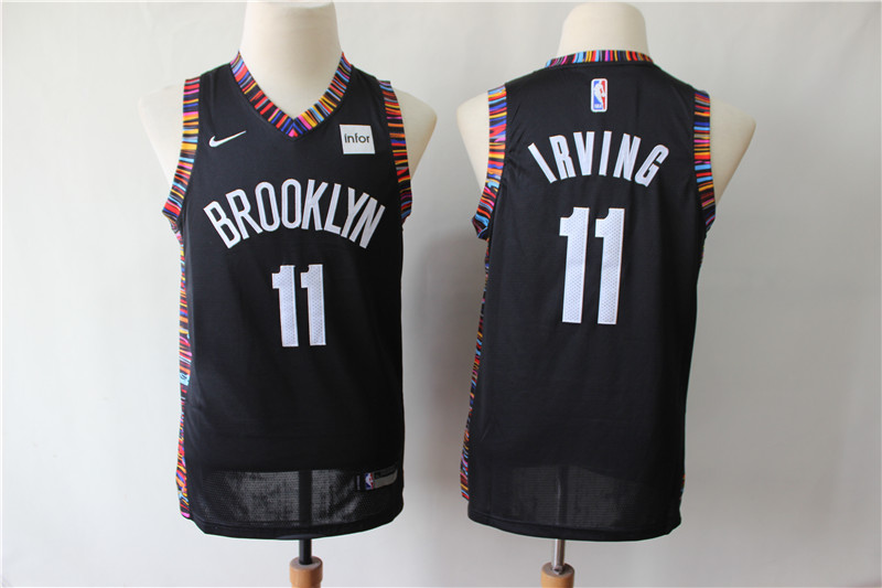 Youth Nets 11 Kyrie Irving Black Youth City Edition Nike Swingman Jersey