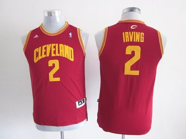 Youth nba Cleveland Cavaliers 2 Kyrie Irving red(revolution 30 swingman) a401b7e49