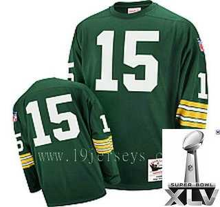 5fd6ac287 ... Nitschke Authentic Throwback Jerseys   17.3. Green Bay Packers  15 1969  Bart Starr Green Mitchell   Ness  2011 Super Bowl