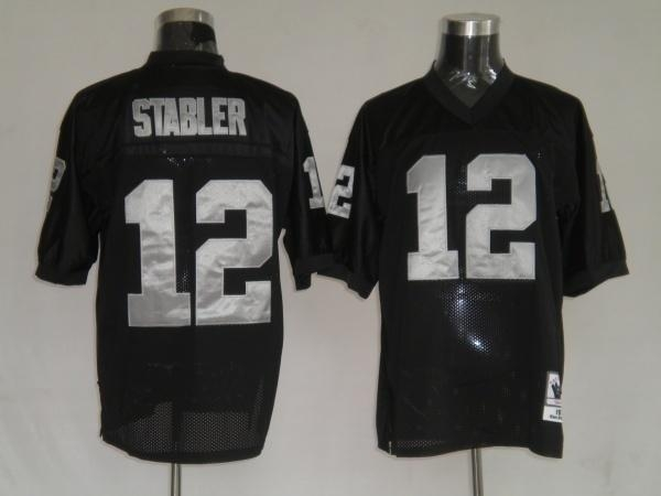 Discount oakland raiders 12 ken stabler black throwback jer  free shipping