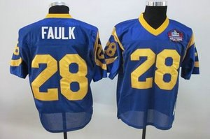 st louis rams 28 marshall faulk blue hall of fame patch jerseys